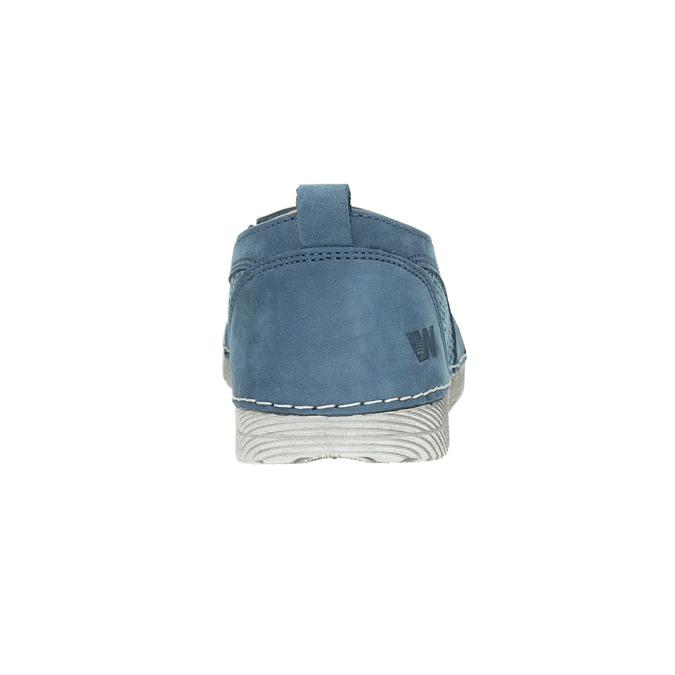 Niebieskie slip-on ze skóry weinbrenner, niebieski, 513-9263 - 17