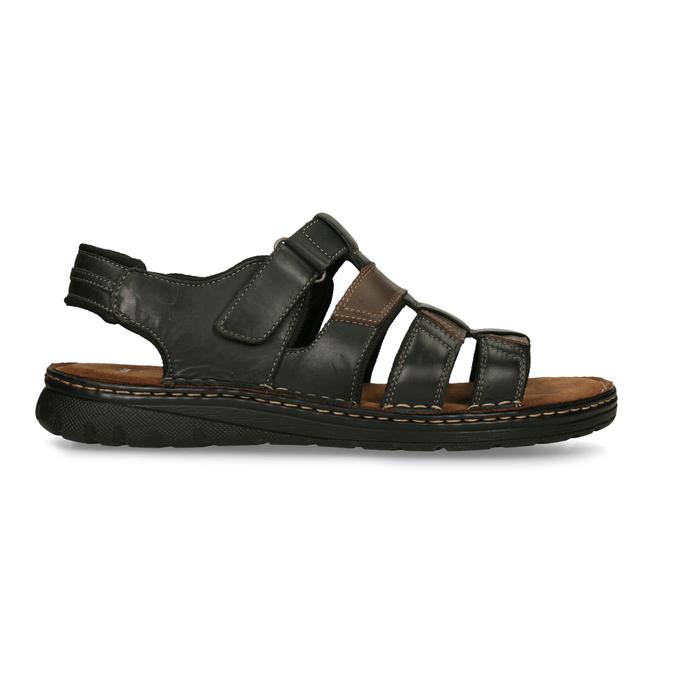 Letnie zamszowe sandały męskie bata, brązowy, 866-4610 - 19