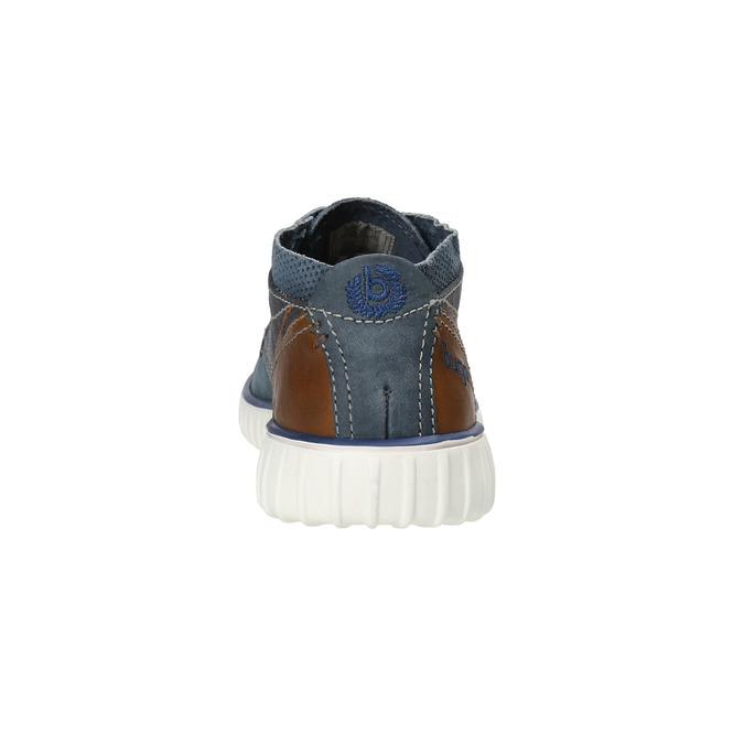 Skórzane buty za kostkę bugatti, niebieski, 846-9635 - 17
