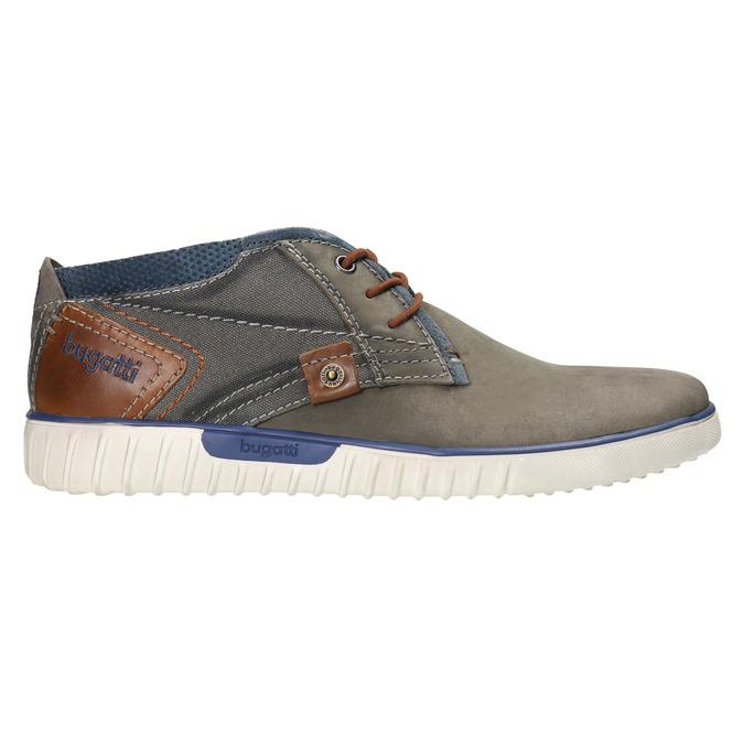 Skórzane buty za kostkę bugatti, szary, 846-2635 - 15