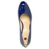 Lakierowane skórzane czółenka hogl, niebieski, 728-9400 - 19