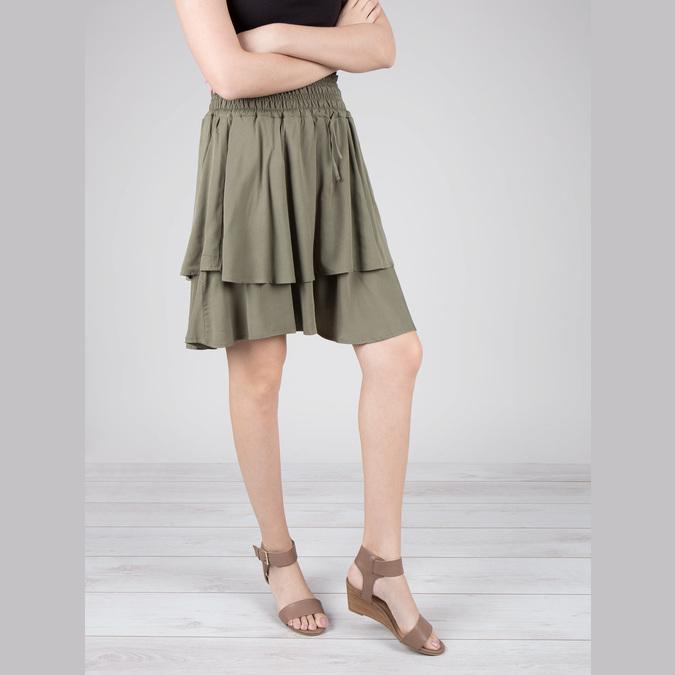 Skórzane sandały na koturnach bata, brązowy, 666-4607 - 18