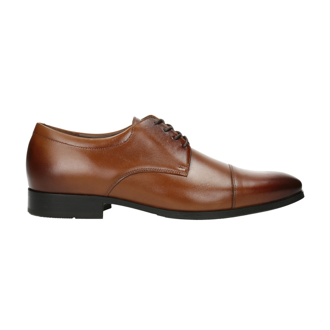 Męskie skórzane półbuty w stylu Derby bata, brązowy, 826-4736 - 15