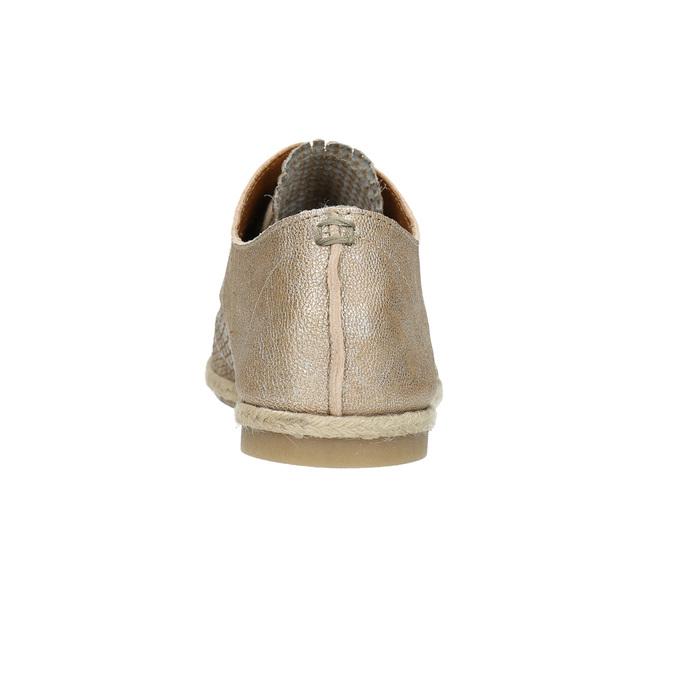 Skórzane półbuty damskie bata, beżowy, 526-8629 - 17