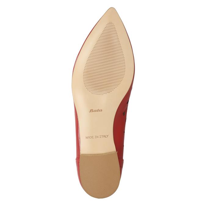 Czerwone skórzane baleriny bata, czerwony, 524-5604 - 19