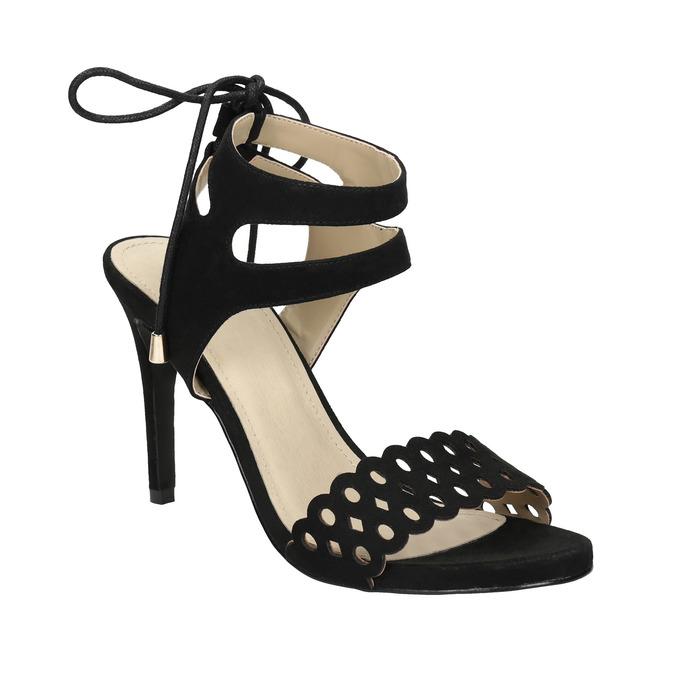 Czarne sandały na szpilce bata, czarny, 769-6603 - 13
