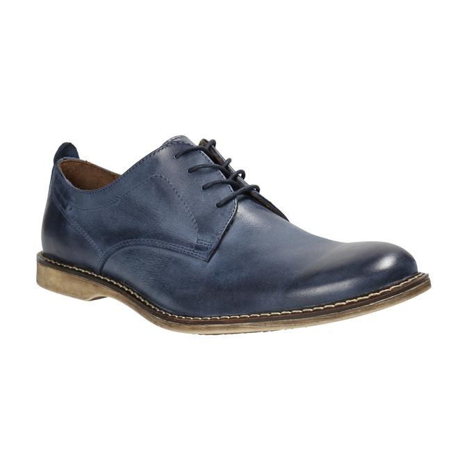 Granatowe skórzane półbuty bata, niebieski, 826-9601 - 13