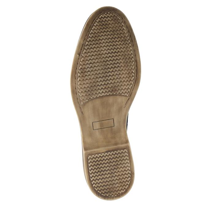 Granatowe skórzane półbuty bata, niebieski, 826-9601 - 26