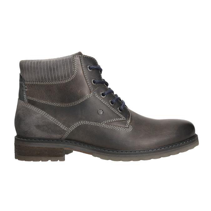 Skórzane buty do kostki bata, szary, 894-2643 - 15