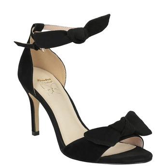 Czarne sandały damskie na obcasach insolia, czarny, 769-6614 - 13