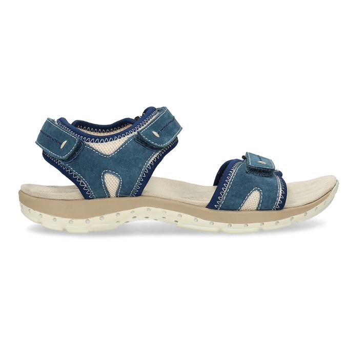 Skórzane sandały wstylu outdoor weinbrenner, niebieski, 566-9608 - 19