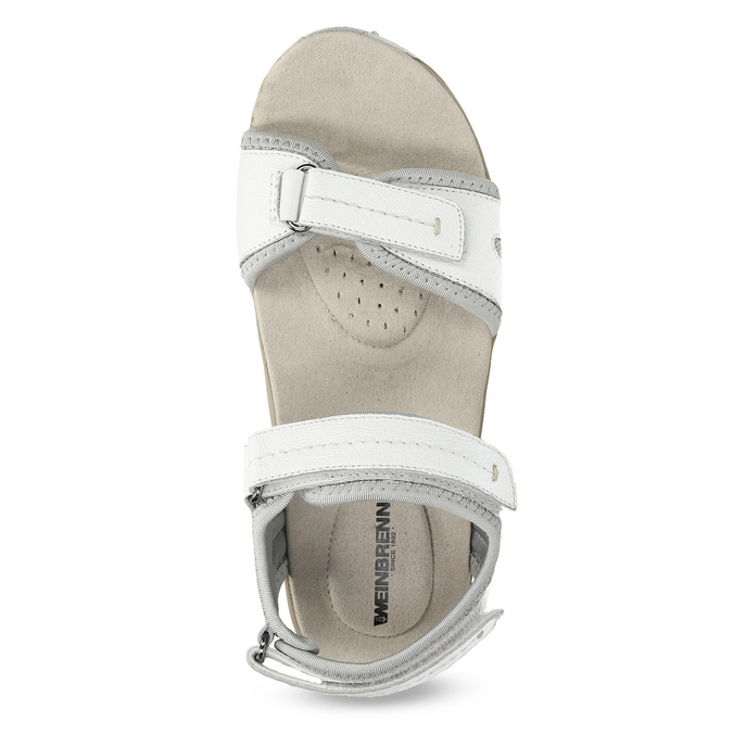 Skórzane sandały damskie wstylu outdoor weinbrenner, biały, 566-1608 - 17