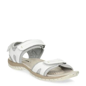 Skórzane sandały damskie wstylu outdoor weinbrenner, biały, 566-1608 - 13