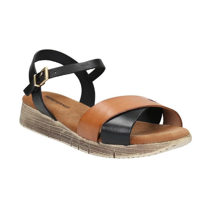 Sandały damskie na grubej podeszwie weinbrenner, czarny, 566-6626 - 13
