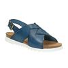 Skórzane sandały damskie weinbrenner, niebieski, 566-9628 - 13