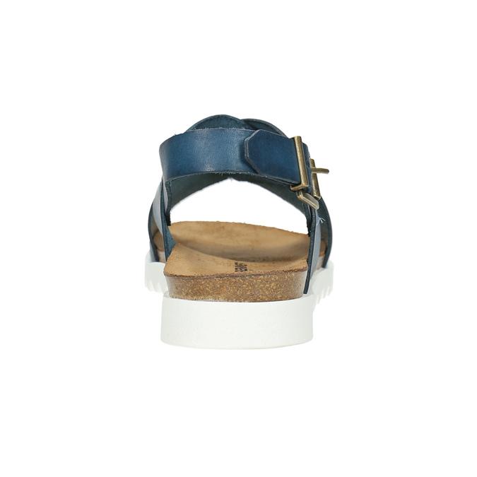 Skórzane sandały damskie weinbrenner, niebieski, 566-9628 - 17