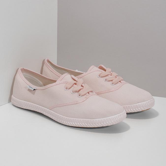 Różowe trampki damskie tomy-takkies, różowy, 589-5180 - 26