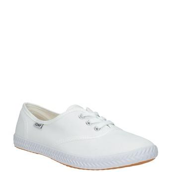 Białe trampki damskie tomy-takkies, biały, 589-1180 - 13