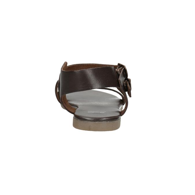 Brązowe sandały ze skóry bata, brązowy, 566-4613 - 17