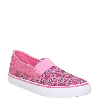 Wzorzyste slip-on dziewczęce mini-b, różowy, 329-5611 - 13