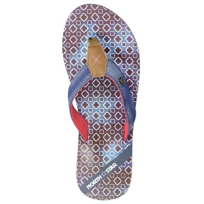 Japonki damskie zdżinsowymi paskami north-star, niebieski, 579-9617 - 26