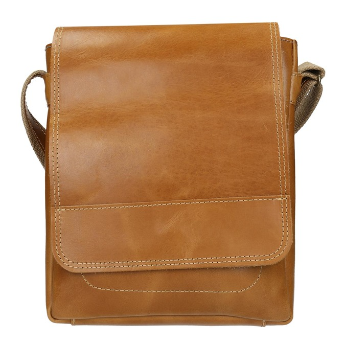 Skórzana torba męska typu crossbody bata, brązowy, 964-3283 - 26