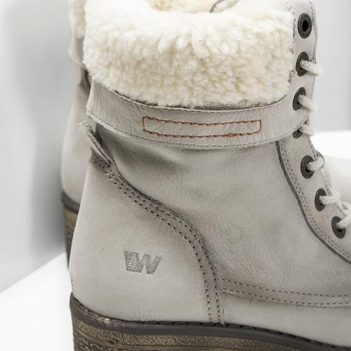 Skórzane buty zimowe zfuterkiem weinbrenner, beżowy, 696-3336 - 16