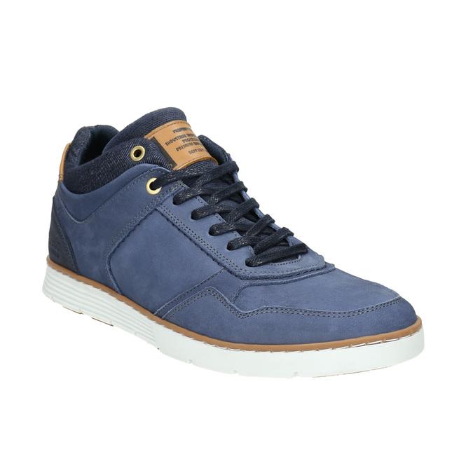 Skórzane trampki za kostkę bata, niebieski, 846-9641 - 13