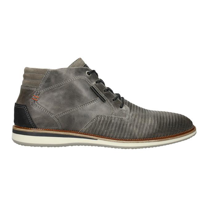 Szare skórzane obuwie za kostkę bata, szary, 826-2912 - 15