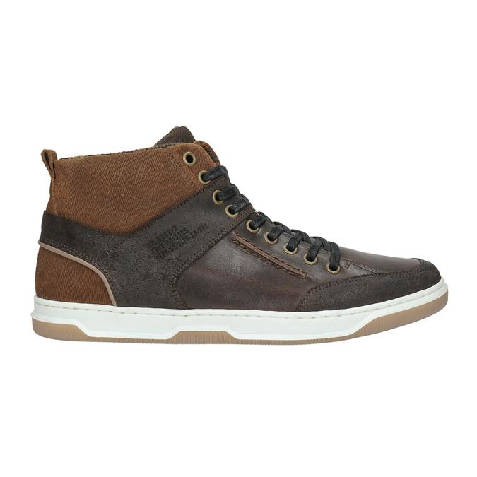 Skórzane trampki za kostkę bata, brązowy, 846-4640 - 15