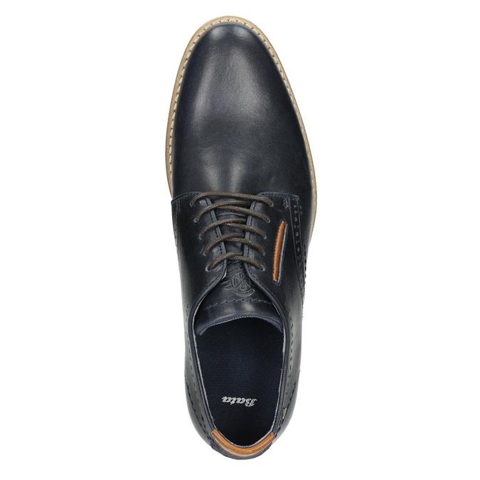 Nieformalne półbuty ze skóry bata, niebieski, 826-9910 - 26