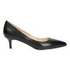 Skórzane czółenka damskie bata, czarny, 624-6640 - 15