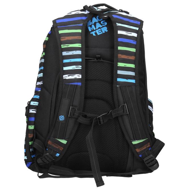 Plecak szkolny wpaski bagmaster, niebieski, 969-9651 - 19