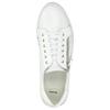 Skórzane trampki damskie zzamkami błyskawicznymi bata, biały, 526-2630 - 26