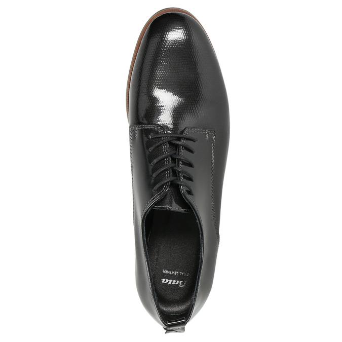 Lakierowane półbuty damskie bata, czarny, 528-4600 - 19