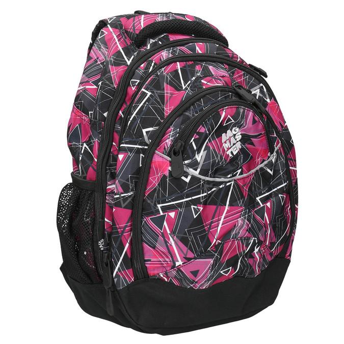 Plecak szkolny bagmaster, różowy, 969-5650 - 13