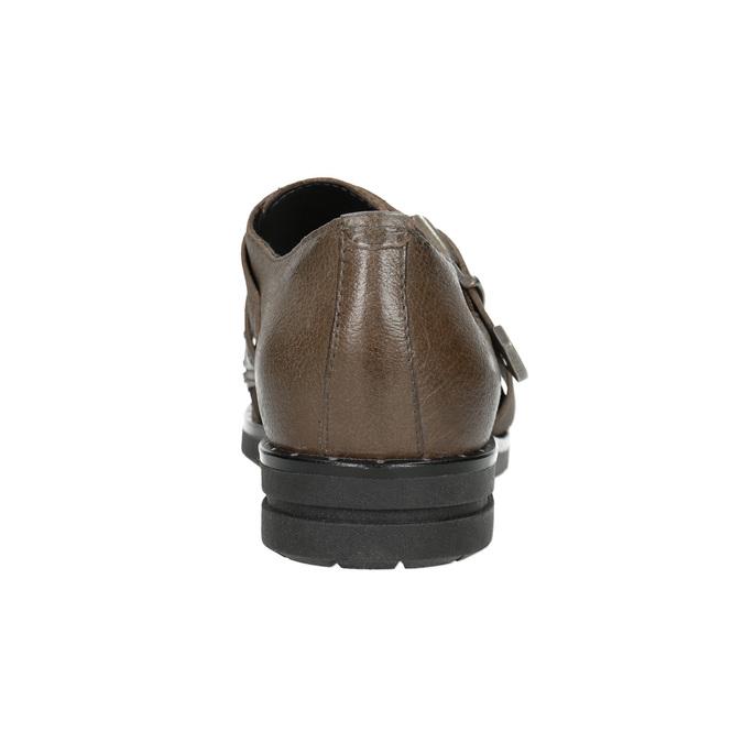 Skórzane półbuty damskie bata, brązowy, 516-2612 - 16
