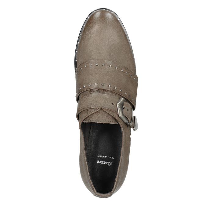 Skórzane półbuty damskie bata, brązowy, 516-2612 - 15