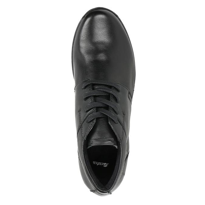 Skórzane botki bata, czarny, 524-6605 - 26