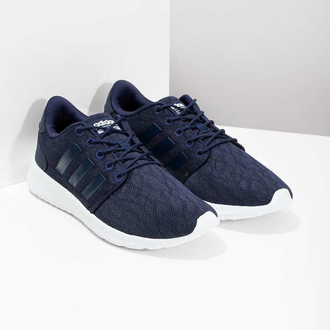 Granatowe trampki wsportowym stylu adidas, niebieski, 509-9112 - 26