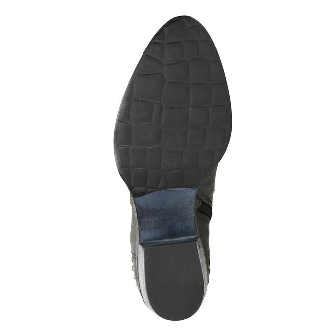 Skórzane botki bata, szary, 596-9659 - 17