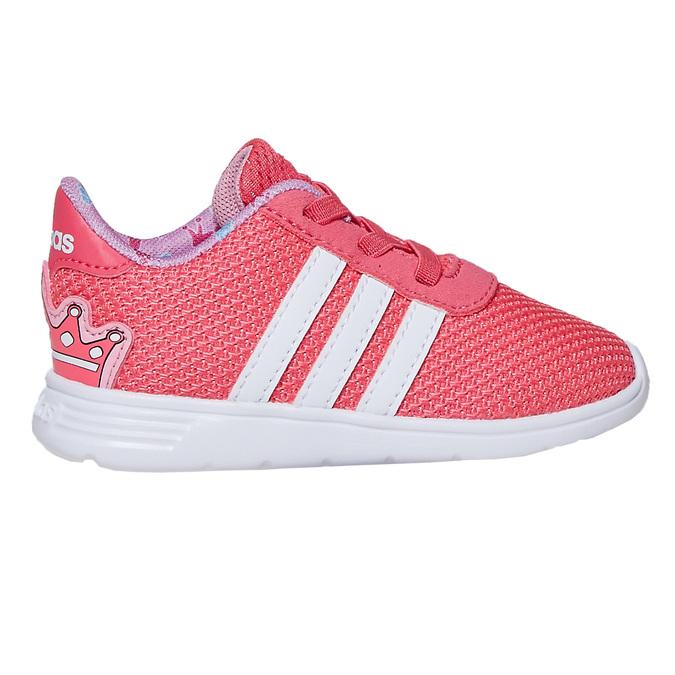 Różowe trampki dziewczęce adidas, różowy, 109-5288 - 15
