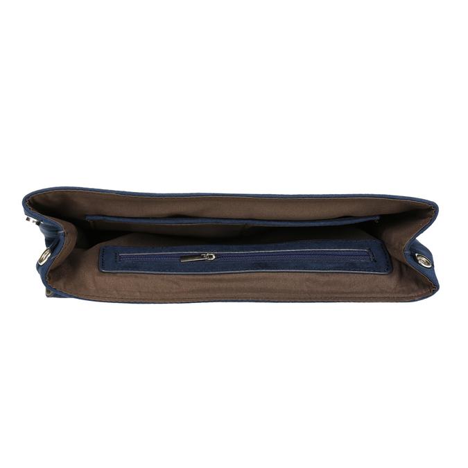 Niebieska kopertówka damska zpaskiem bata, niebieski, 969-9664 - 15