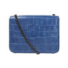 Niebieska torebka zfakturą bata, niebieski, 961-9753 - 26
