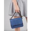 Niebieska torebka zfakturą bata, niebieski, 961-9753 - 17
