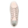 Skórzane trampki damskie bata, różowy, 526-5641 - 15