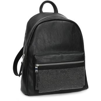 Czarny plecak damski zkryształkami bata, czarny, 961-6855 - 13