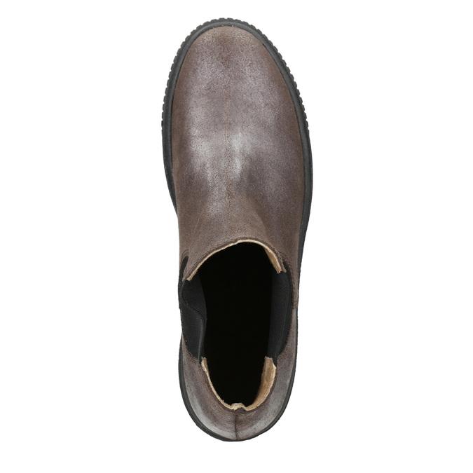 Skórzane obuwie damskie typu chelsea bata, brązowy, 596-1671 - 15