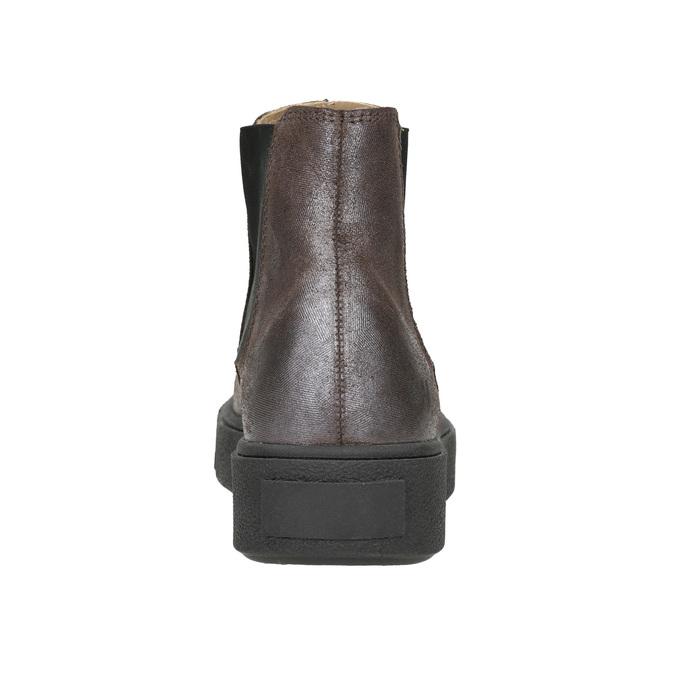 Skórzane obuwie damskie typu chelsea bata, brązowy, 596-1671 - 16