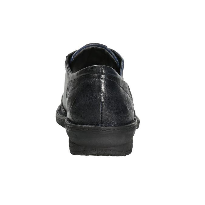 Skórzane półbuty damskie bata, niebieski, 526-9640 - 17